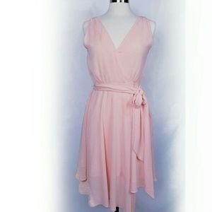 HOST PICK!  BB Dakota   Wrap Salmon Dress M